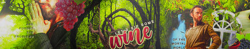 Let's Sip Some Wine Banner by hieratic0