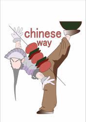 chinese restaurant logo by DimaCupidAngel