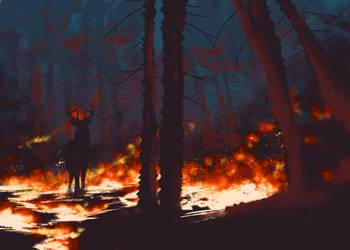 Fire Speedpaint by wukeqin