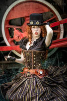 Steampunk Redhead by Nivelis