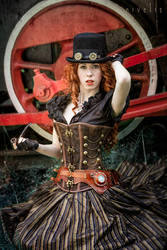 Steampunk Redhead by Nivelis
