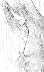 Sephiroth in the Rain by AkiraxCMXC