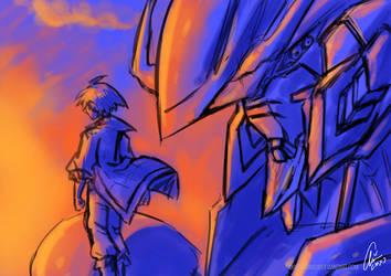 Mikazuki and Barbatos by AkiraxCMXC