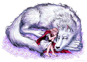 Wolf and Girl by AkiraxCMXC
