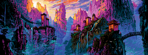 Pixel China Mountains by Retronator