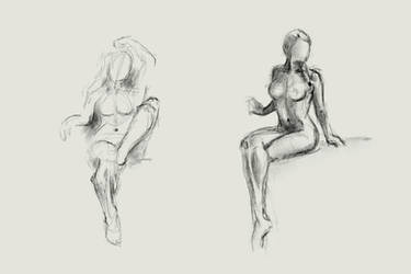 Figure drawing practice by Retronator