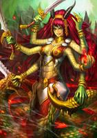 Marilith Euryale - Aspect of Chaos by PortBaron