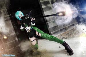 Sword Art Online II  Sinon Cosplay  Shooting by yukigodbless