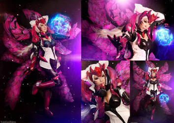 Challenger Ahri : League of Legends cosplay pack by yukigodbless