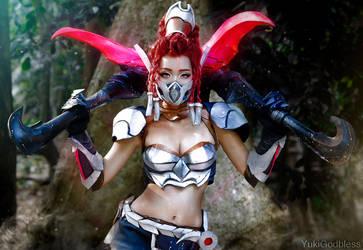 Akali: League of Legends cosplay by yukigodbless