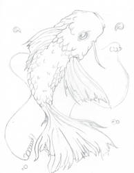 Sketchy Koi by krazykid7