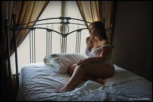 London in her underwear by Gary-Melton