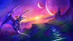 Dragon Riding by Neytirix