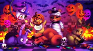 Happy Halloween! (FNAF Fanart) by Neytirix