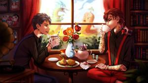 Tea Break (Cuphead Fanart) by Neytirix