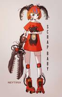 Scrap Baby Redesign (FNAF Fanart) by Neytirix