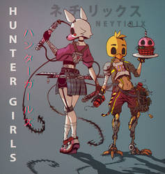 HUNTER GIRLS (FNAF) by Neytirix