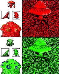 Mushroom Wars Sprites by Yo-yoyoyo