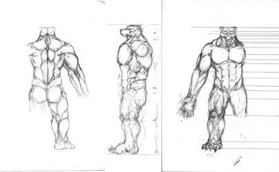 Bearman sketch designs. Old Stuff. by Yo-yoyoyo