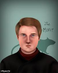 Peter Pettigrew/ Wormtail by chillyravenart