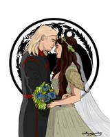 Rhaegar and Lyanna by chillyravenart