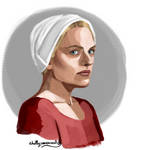 June/Offred (The Handmaid's Tale) by chillyravenart