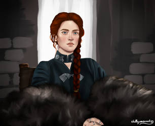Sansa - Lady of Winterfell by chillyravenart