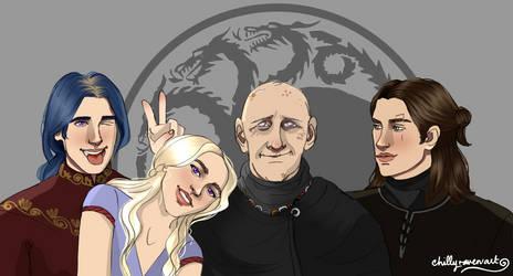 The Living Targaryens by chillyravenart