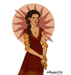 Elia Martell of Dorne by chillyravenart