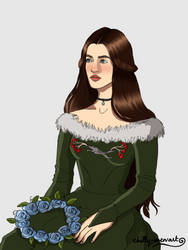 Lyanna and the crown of roses by chillyravenart