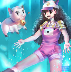 Bee And Puppycat - Farmer by IPonyLover