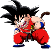 Dragon Ball - kid Goku 3 - Lineartcolor by Krizart-DA