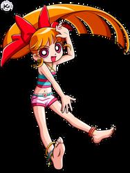 Powerpuff Girls Z  _Bombon - Momoko Akatsutsumi_ by Krizart-DA