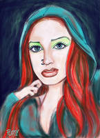 Lady Red Portrait by Pudsybear