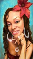 Naptown Barbie Portrait by Pudsybear