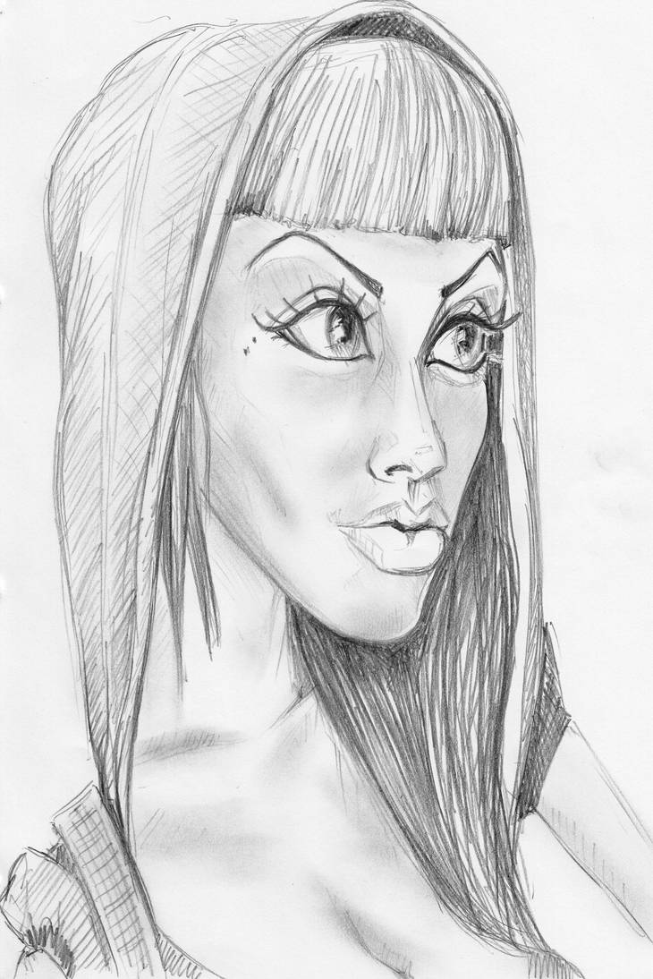 Elara Blair sketch by Pudsybear