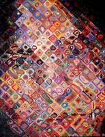 Chuck Close study by LittleBDesigns