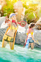 Final Fantasy X-2 - Yuna and Rikku by Calssara