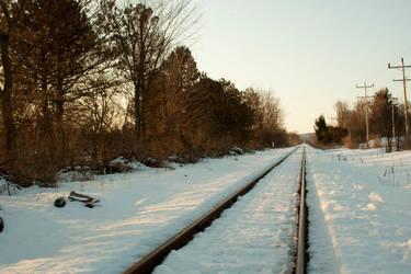 Railroad Sunrise by Jeckina