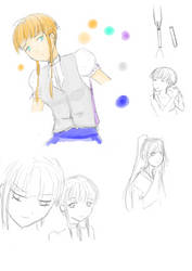 Okami Asuna (coloured sketch) by MessatanienCarder