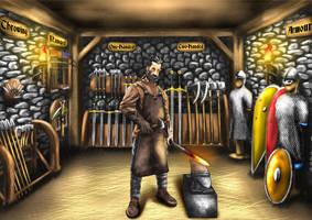 Blacksmith-Commission by Thrakks