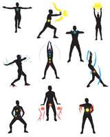 Yoga poses by bluedotgod