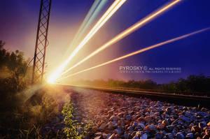 Train lights by Piroshki-Photography