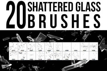 20 Shattered Glass Brushes by pushaloo