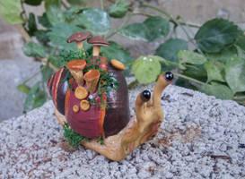 cute snail by Sanguis5