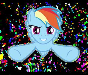 Rainbow Dash flying vector by FALG31