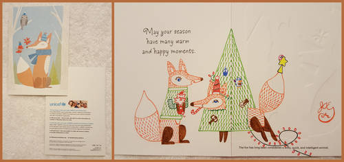 Winter Holiday Card - Fox Couple 1 - 2016 by JAEdger