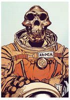 Abrek the cosmonaut (in full color) by bumhand