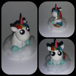 Cloudy Unicorn Figure by Luan-crafts