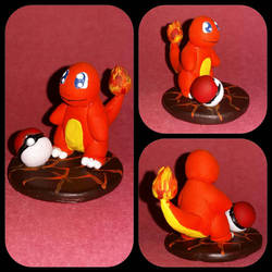 004 - Charmander and pokeball figure by Luan-crafts